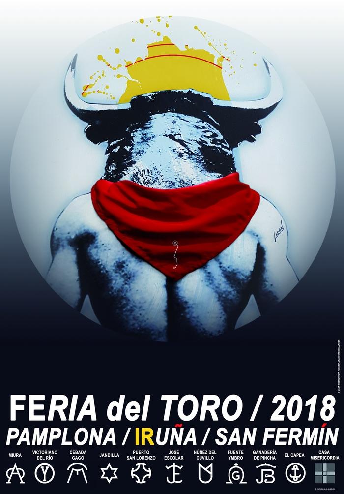 Cartel feria del toro san fermin 2018